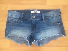 Hollister Low Rise Ripped Frayed Denim Shorts Hot Pants W25