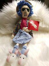 """Hallmark Hilarious Maxine Doll Don't worry be Crabby. 16"""" Cloth Doll. Nwt"""