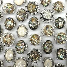 Big Shell Costume Rings With Crystal For Women 50pcs/lot Wholesale