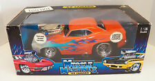 MUSCLE MACHINES 1:18 Scale '69 CHEVY CAMARO Orange with Flames 1 OF 5800