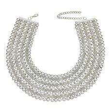 NEW Chunky Metal Necklace Choker Collar Maxi Beads Statement Bib Beaded Vintage