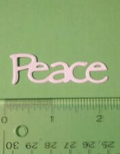 16 Peace - Cardstock Die Cuts - Card Toppers - Embellishments - Christmas