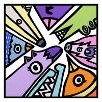new vibrant colourful street art print poster A2 signed ltd ed Kev Munday