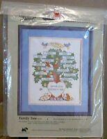 "FAMILY TREE 50335 Counted Cross Stitch Kit NIP Candamar Designs 11""x14"""