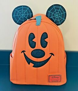 Disney Loungefly Pumpkin Jack O Lantern 2020 Backpack Halloween In Hand New