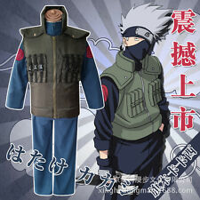 Naruto Hatake Kakashi Vest Top Pants Halloween Whole Set Cosplay Costume X001