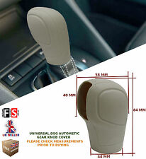UNIVERSAL AUTOMATIC CAR DSG SHIFT GEAR KNOB COVER PROTECTOR BEIGE–MG