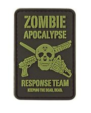 Zombie Apocalypse PVC Rubber Badge Military Tactical Patch Hook Back airsoft