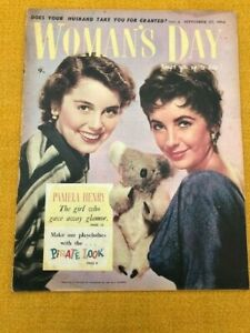 ELIZABETH TAYLOR  AUSTRALIAN WOMAN'S DAY COVER. September 1954