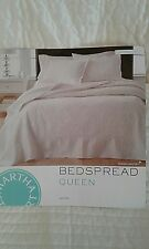 MARTHA STEWART COLLECTION LUSH EMBROIDERY IVORY QUILTED BEDSPREAD RP $220