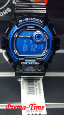 Casio G-Shock G8900A-1 GLOSS BLACK & BLUE Military Display, Chrono & Stopwatch