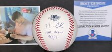 Nick Senzel Reds 150th Anniversary Signed Baseball Beckett WITNESS MLB Debut