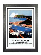Scarborough (18) British Railway Travel Advert Old Vintage Retro Picture Poster