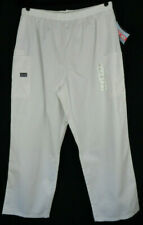 Womens Cherokee Scrubs Pull on Cargo Pant 4200 White XL Extra Large Petite NWT