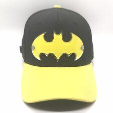 DC Comics Batman Hat Cap Adjustable With 3-D Plastic Bat Symbol Logo With Rivets