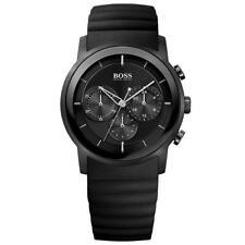 NEW HUGO BOSS 1512639 BLACK RUBBER CHRONOGRAPH WATCH BNWT
