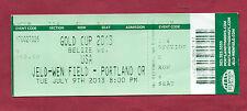 ORIG. TICKET CONCACAF ORO Cup USA 2013 USA-Belize!!! RARO