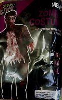 Adult Zombie Costume Jacket Bloody Vest & Trousers Scary Halloween Fancy Dress