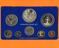 1976 Barbados Proof Silver 8 Coin Set (10$ 37.9 Grams .925 , 5$ 31.1 Grams .800)