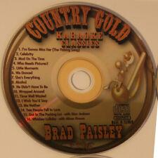 KARAOKE Classic COUNTRY CD+G New Disc BRAD PAISLEY,16 Tracks in Sleeve