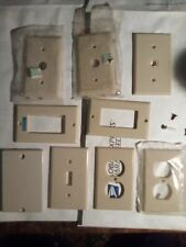 Lot Of 9 Cover Plates Single Gang Electrical Box Covers