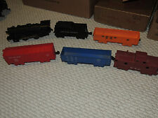 Vintage Marx 400 Mechanical Wind Locomotive with Tender & 4 Cars