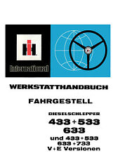 Werkstatthandbuch für IHC Schlepper 433  533  633  733