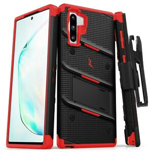 Samsung Galaxy NOTE 10 ZIZO BOLT Case with rotatable holster clip and Kick Stand