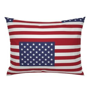 American Flag Stars State Flags Usa United States Pillow Sham by Roostery