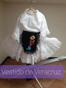 Veracruz Mexican Folklorico Blouse and Skirt