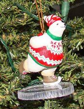 Coke Polar Bear Collection, Ice Skating Ornament (Official Coca-Cola, 1995)