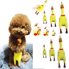 Screaming Shrilling Rubber Yellow Chicken Pet Dog Puppy Toy Squeak Squeaker Gift