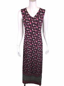 Joan Rivers Women's Regular Mixed Print V-Neck Maxi Dress Pink X-Small Size