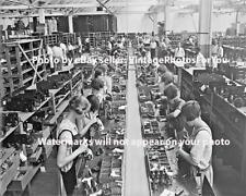 Old Antique Vintage Prohibition Era Women Working Radio Assembly Factory Photo