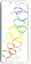 Valentine's Graduating Rainbow Hearts iPod Touch 5th Gen 5G on White TPU Cover