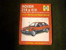 ROVER 214 + 414 1989 - 1992 USED HAYNES WORKSHOP MANUAL