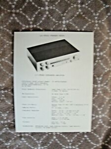 1970's LUX Luxman L-3 Integrated Amplifier 1 Sided Page Flyer Pamphlet Brochure