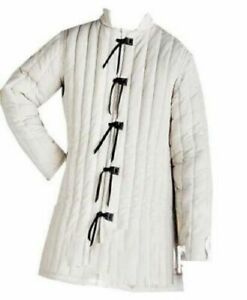 Medieval Thick Padded Gambeson Costumes Suit Of Armor For Theater Sca Off White