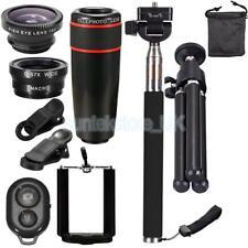 10 In 1 Mobile Phone Lens 8X Telephoto Telescope Clamp Clip Lens Kit Black