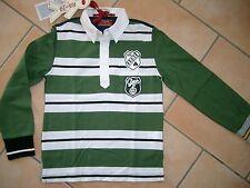 (C163) RARE-The Kid Boys Langarm Shirt Polohemd mit Auto Druck & Aufnäher gr.128