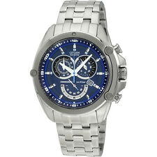 Citizen Stainless Steel Chronograph Blue Dial Quartz Men's Watch AT0788-52L
