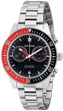 $428 JACK SPADE Mens Black Dial Chronograph Stainless Steel Swiss Watch WURU0085