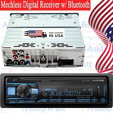 Alpine UTE-73BT Single-DIN Car Mechless Digital MP3 Receiver USB w/ Bluetooth-UC