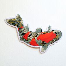 """Koi Fish Carpe Diem Tattoo skull snake bird print 4x2"""" Decal sticker #2879"""