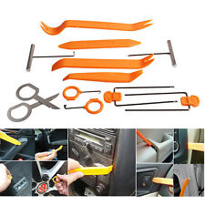12pcs Plastic Car Door Clip Panel Trim Dash Radio Audio Removal Pry Tools Kit