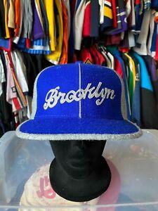 VTG Brooklyn Royal Giants Fitted Cap 7 3/4 Wool NLBM Black Ball Classics NWT
