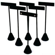 6 Black Velvet Earring T Stand Displays 6 12