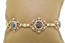 Vintage 14k Rose Gold And Garnet Bracelet