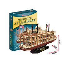 Cubic Fun - 3D Puzzle Mississippi Raddampfer Steamboat Schiff 1:100