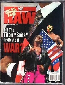 WWF Raw Magazine November December 1997 Bret Hart VG